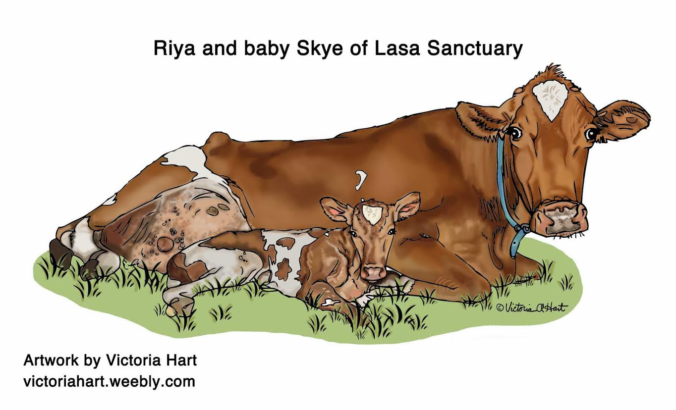 Victoria Hart Illustration of Lana and Skye from Lasa Sanctuary