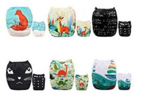 colorful print cloth diapers
