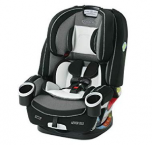 gray black and white infant car seat