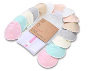 multi-color reusable breast pads